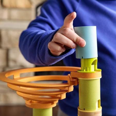 Rollercoaster din bambus cu bile