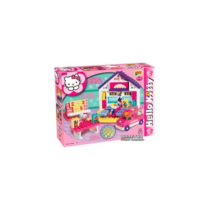 Set constructie Unico Plus Hello Kitty Scoala 89 piese