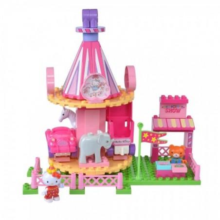 Set cuburi constructie Carusel Hello Kitty Unico