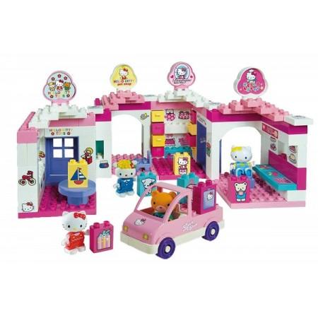 Set cuburi constructie Centru comercial Hello Kitty Unico