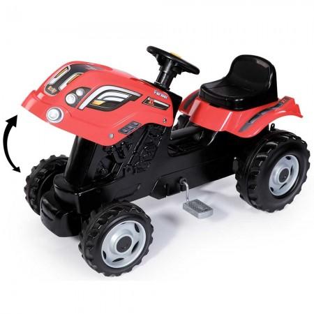 Tractor cu pedale si remorca Smoby Farmer XL rosu