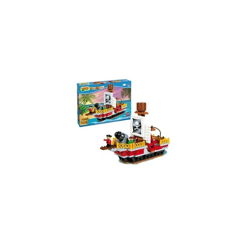 Set constructie Unico Plus Corabie pirati