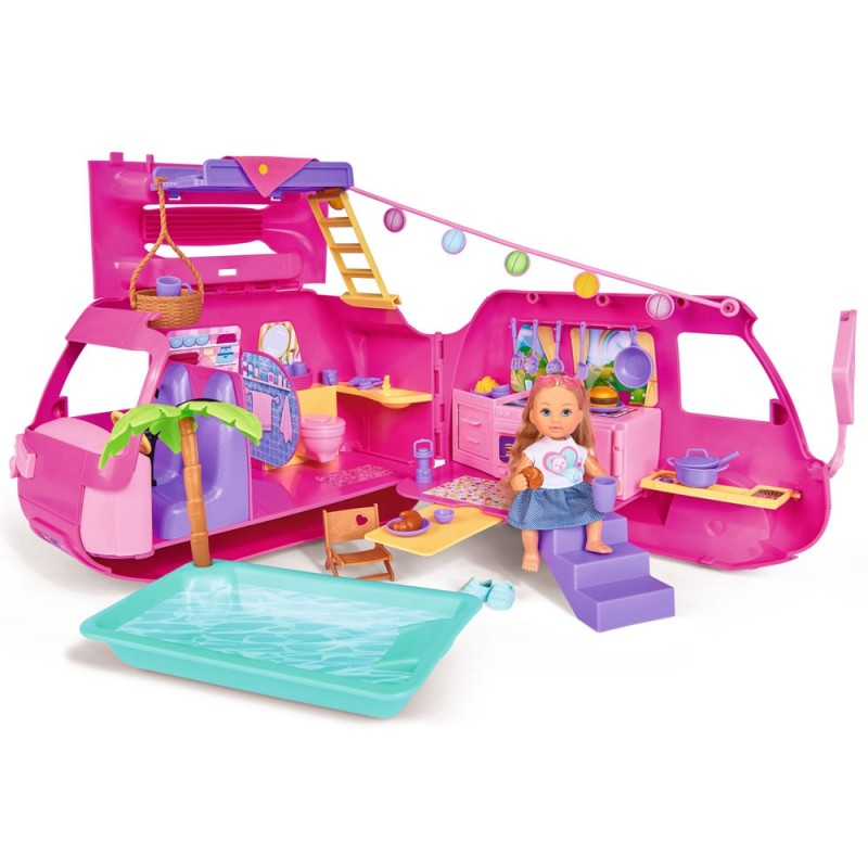 Papusa Simba Evi Love Holiday Camper 12 cm