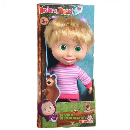 Papusa Simba Masha and the Bear, Masha Movie Director 23 cm