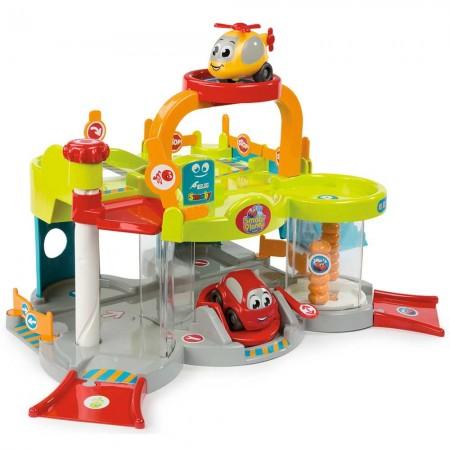 Jucarie Smoby Primul meu garaj Vroom Planet cu masinute