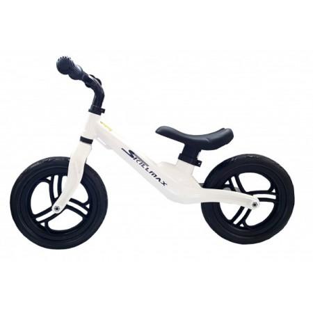 Bicicleta fara pedale 12 inch Alba foarte usoara 2kg inaltime reglabila roti EVA cadru magneziu
