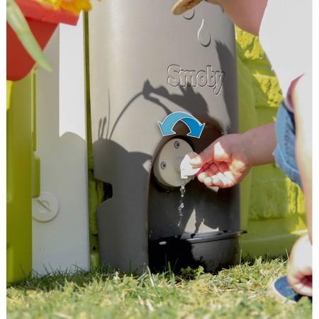 Jgheab Smoby cu rezervor de colectare a apei de ploaie pentru casuta Jura Lodge