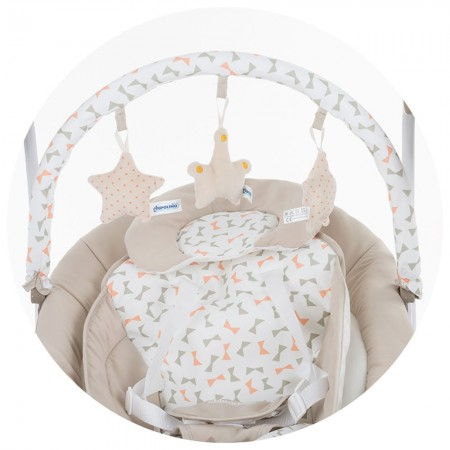 Leagan electric si balansoar Chipolino Paradise beige ribbon