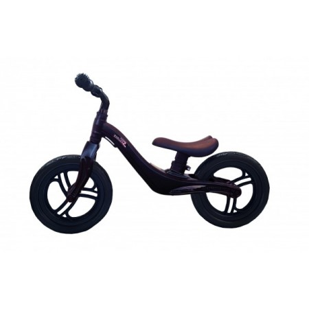 Bicicleta fara pedale 12 inch Neagra foarte usoara 2kg inaltime reglabila roti EVA cadru magneziu