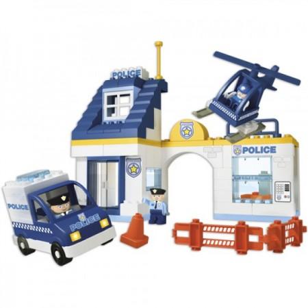 Set constructie Unico Statie de politie 80 piese