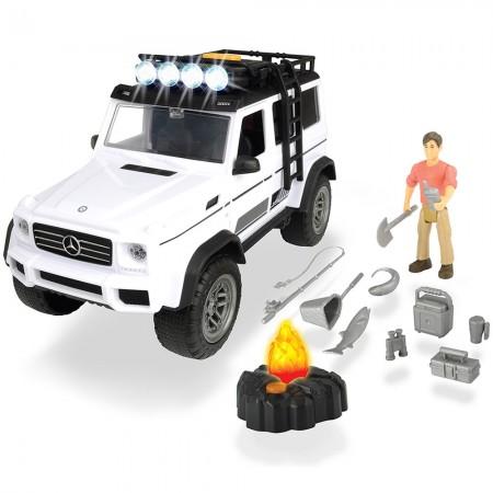 Masina Dickie Toys Playlife Adventure Set cu figurina si accesorii