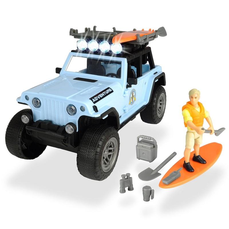 Masina Dickie Toys Playlife Surfer Set cu figurina si accesorii