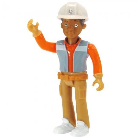 Buldozer Dickie Toys Bob Constructorul Action Team Muck cu 1 figurina Leo