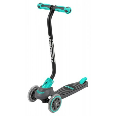 Trotineta pentru copii cu 3 roti Saica Ryder Neo 3400 cu roti din silicon reglabila pe inaltime pliabila albastru cu negru