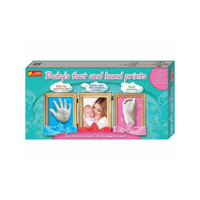 Joc pentru copii Amprenta mainii si piciorului copilului RANOK