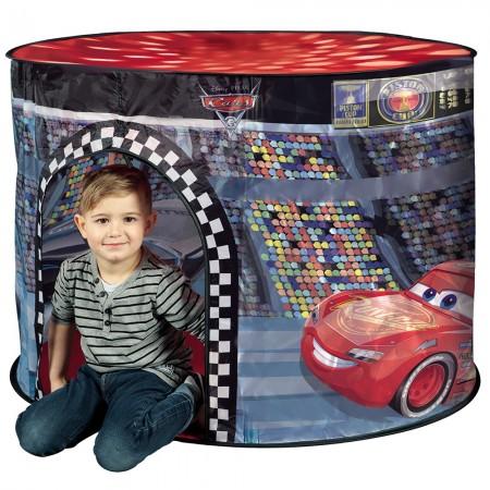 Cort de joaca John Cars cu lumini 110x87x75 cm