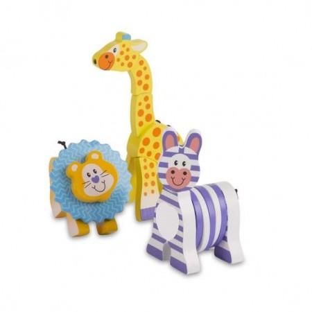 Set 3 jucarii pentru motricitate Safari - Melissa & Doug