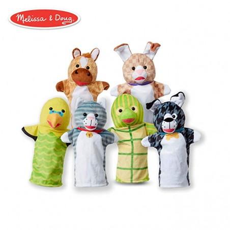 Set 6 papusi de mana Animale de companie - Melissa & Doug