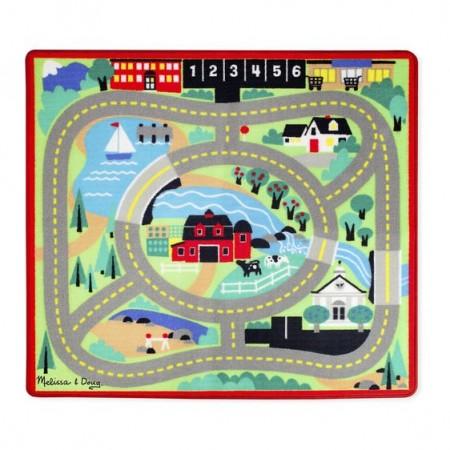 Covoras de joaca cu masinute Circuitul - Melissa & Doug
