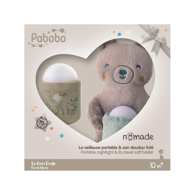 Lampa de veghe Pabobo Nomade cu Ursulet Plus culoare Bej cu Led reincarcabila