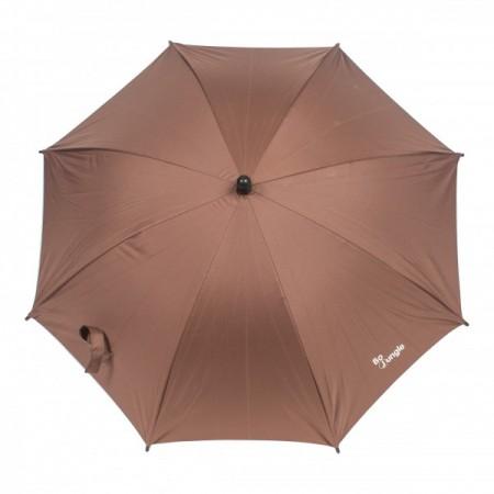 Umbrela pentru carucior copii Bo Jungle Bej cu factor protectie UV si prindere universala