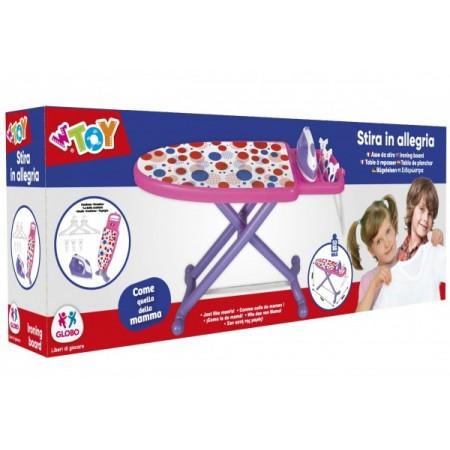 Masa de calcat pentru fetite Globo Wtoy 40379 cu fier de calcat umerase si carlige haine