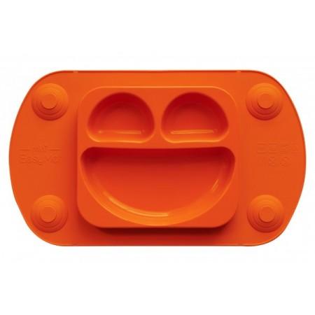 Farfurie autodiversificare portabila EasyMat Mini EasyTots speciala din cauciuc cu ventuze Portocalie tip tava
