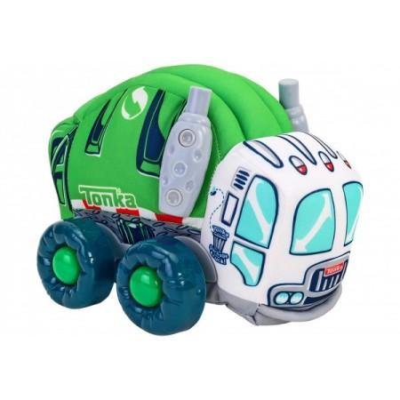 Jucarie moale pentru copii tip masina de Gunoi Globo Tonka cu sunete cu roti si accesorii din plastic Verde