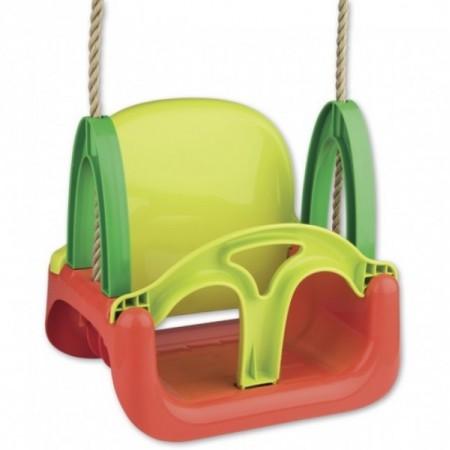 Leagan din plastic bebelusi si copii pentru exterior 3 in 1 Androni cu spatar