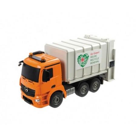 Camion gunoi Mercedes Arocs cu telecomanda Mondo 63523 scara 1:20 cu container inclus