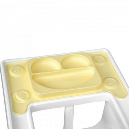 Farfurie autodiversificare portabila EasyMat Perfect fit Ikea EasyTots speciala din cauciuc cu ventuze Galbena tip tava