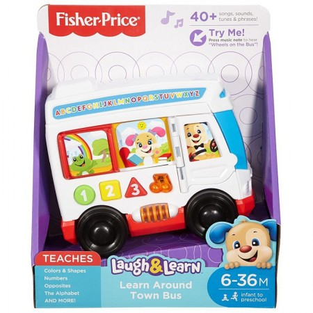 Autobuzul cu lumini si sunete Laugh&Learn - Fisher Price