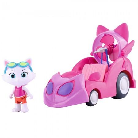 Motocicleta Smoby 44 Cats cu figurina Milady 7,7 cm