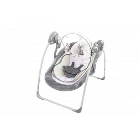 Leagan portabil cu reductie BO Jungle Gri model Stele pentru bebelusi cu arcada jucarii