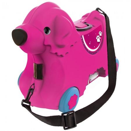 Masinuta de impins tip valiza Big Bobby Trolley pink