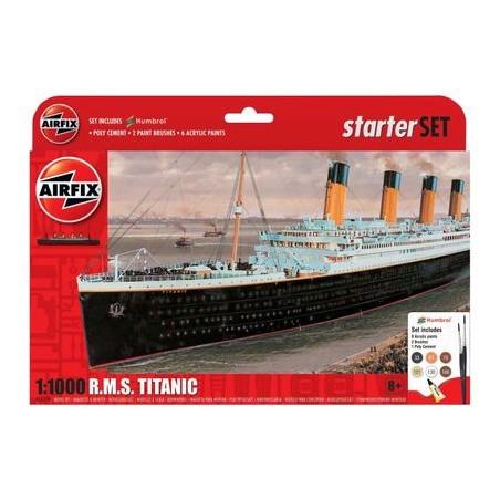 Kit constructie Airfix nava de croaziera R.M.S. Titanic Gift Set, 1:1000