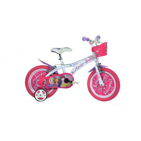 "Bicicleta copii 14"" - Barbie Dino Bikes"