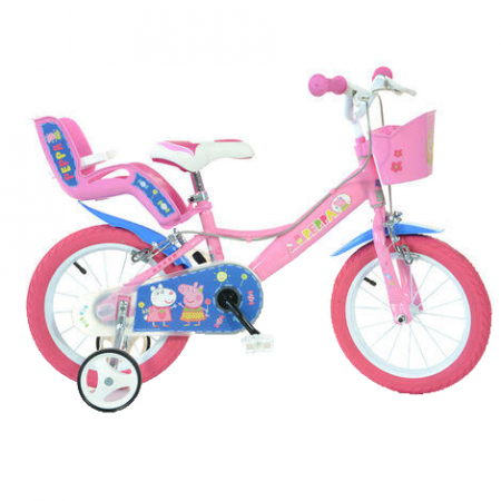 Bicicleta copii 14'' - Purcelusa Peppa Dino Bikes