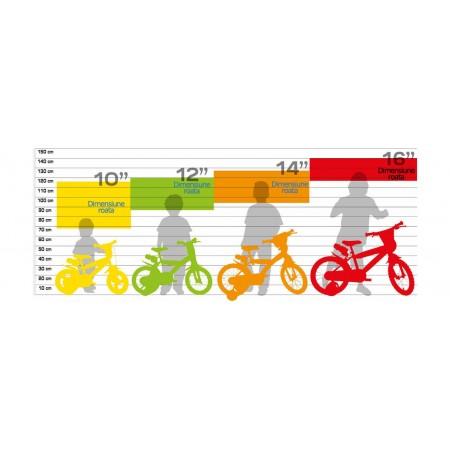 Bicicleta copii 14'' Princess Dino Bikes