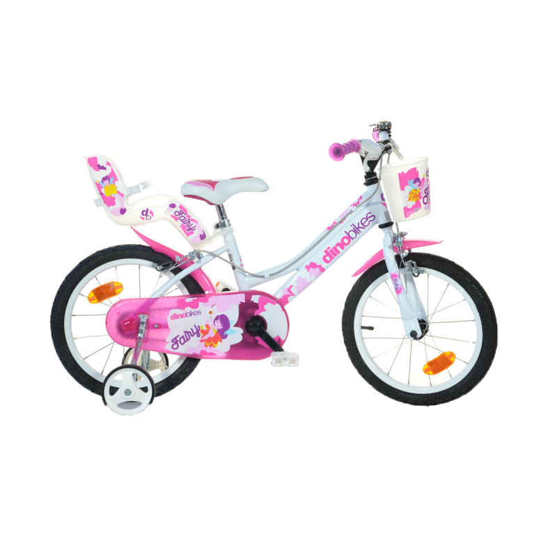 Bicicleta fetite cu roti ajutatoare si diametrul de 16'' RSN Dino Bikes