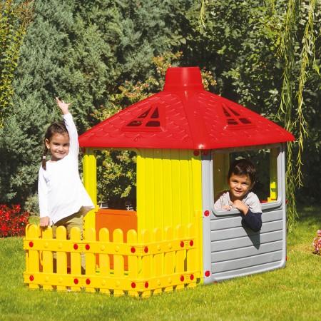 Casuta cu gard pentru copii Dolu