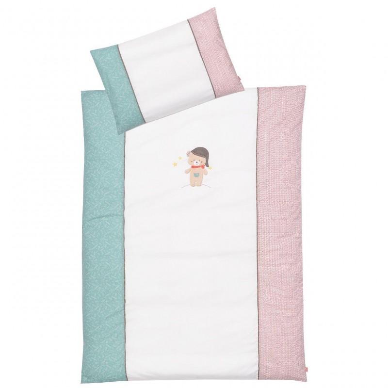 Lenjerie de pat copii - Ursuletul Bruno Fehn