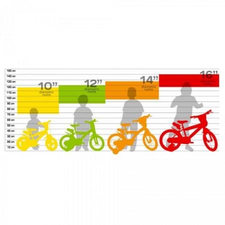 Bicicleta copii 10'' - EROII IN PIJAMA Dino Bikes