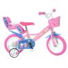 Bicicleta copii 12'' - Purcelusa Peppa Dino Bikes