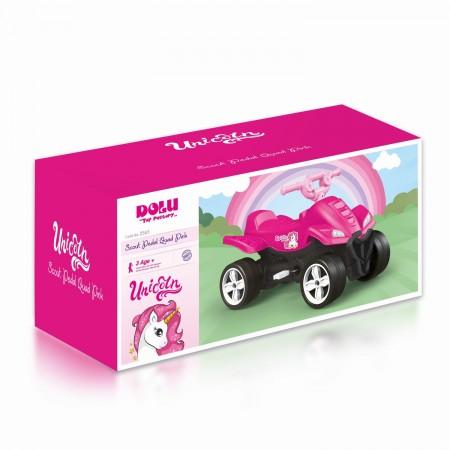 ATV cu pedale roz - Unicorn Dolu