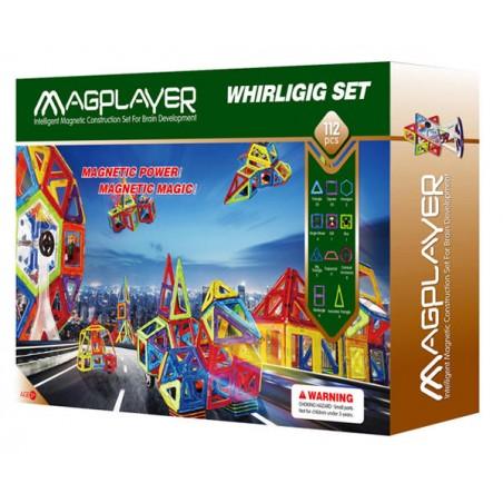 Joc de constructie magnetic - 112 piese Magplayer