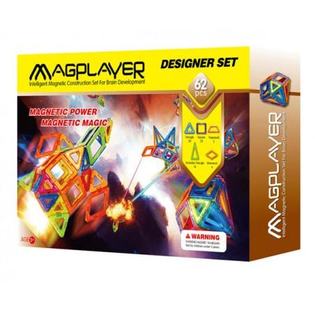 Joc de constructie magnetic - 62 piese Magplayer