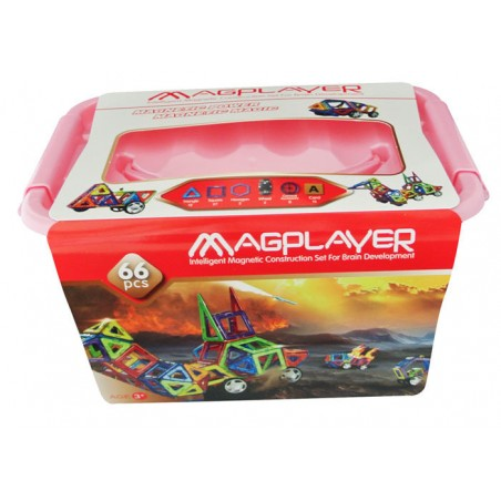 Joc de constructie magnetic - 66 piese Magplayer