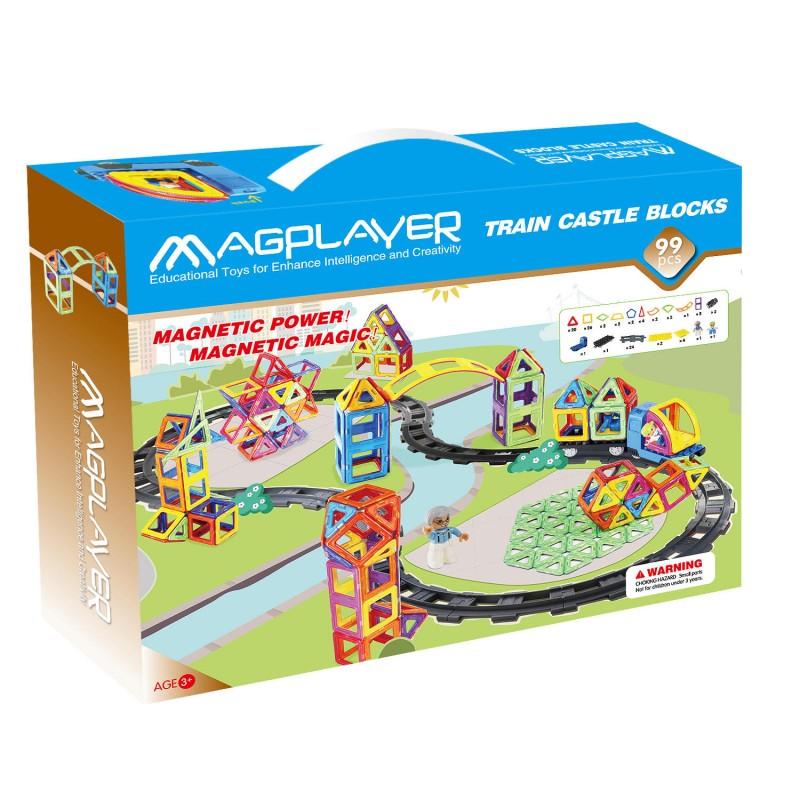 Joc de constructie magnetic - 99 piese Magplayer