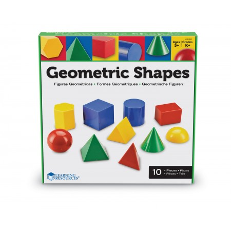 Corpuri geometrice din plastic - 10 piese Learning Resources